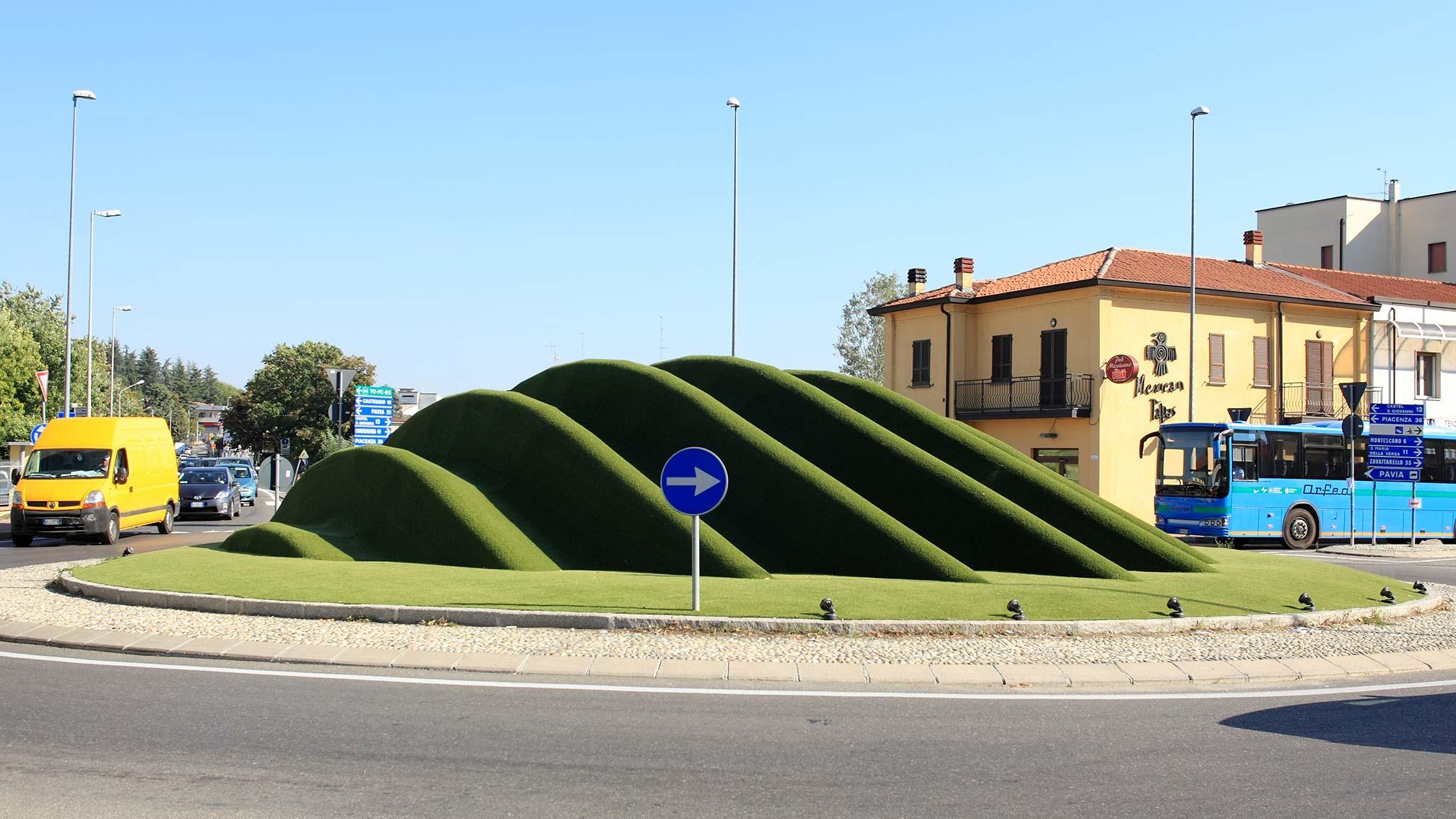 Prato sintetico per spazio urbano