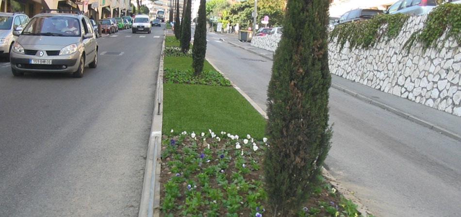 tappeto erboso sintetico arredo urbano