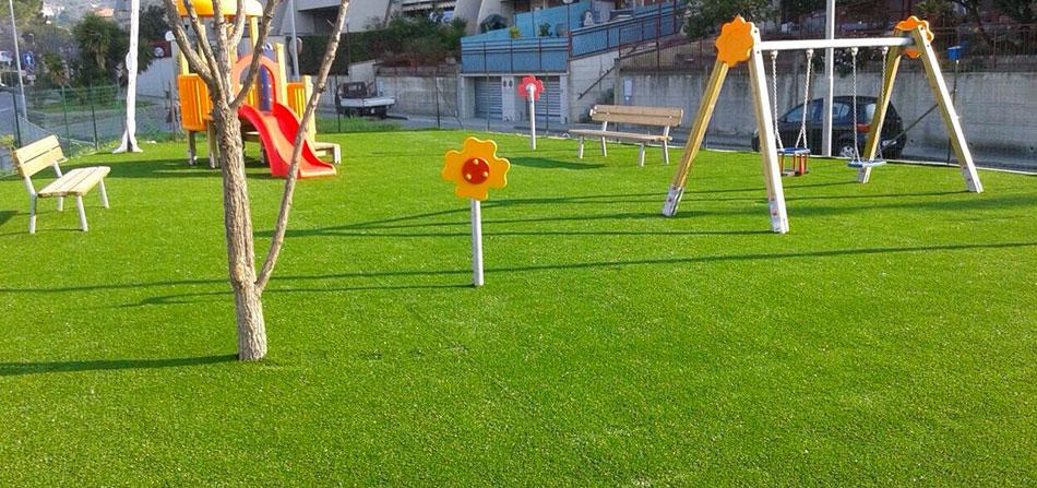 erba artificiale per parchi gioco