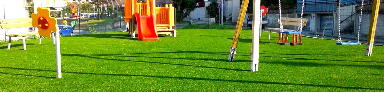 Prato sintetico per bambini e aree gioco for Arredo urbano in inglese