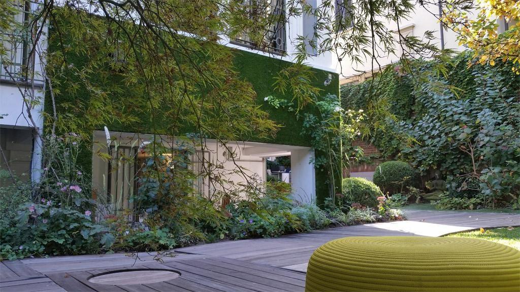 Giardino verticale erba sintetica