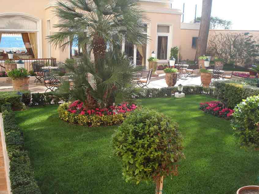 giardino sintetico per hotel