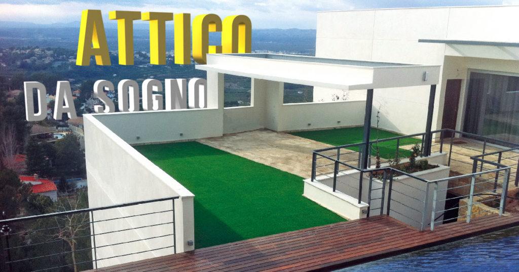 Usa l erba sintetica per crea uno spazio originale ed elegante