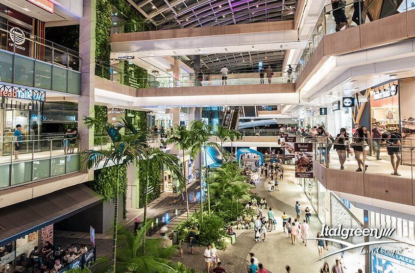 Giardini nei centri commerciali il verde verticale