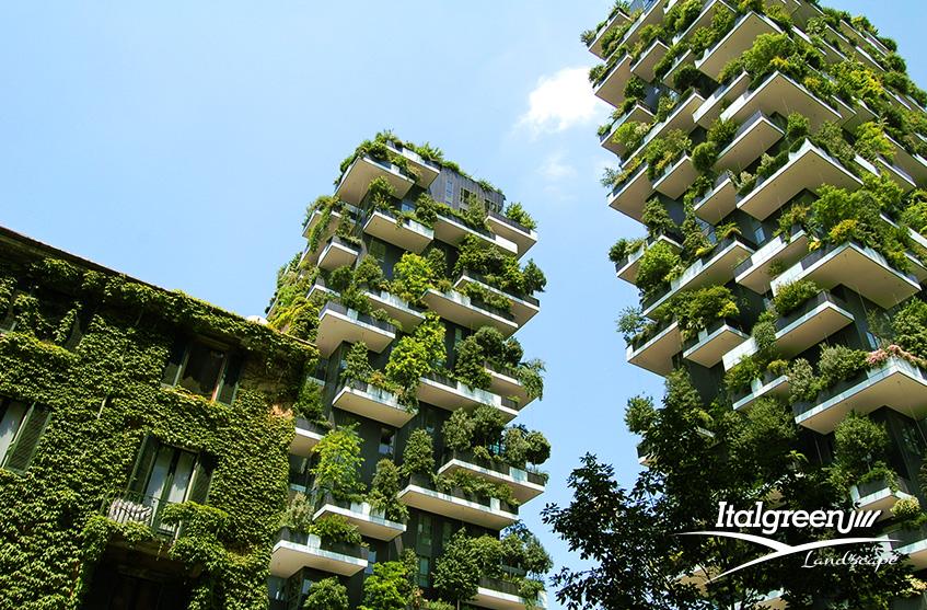 interventi di verde urbano bosco verticale