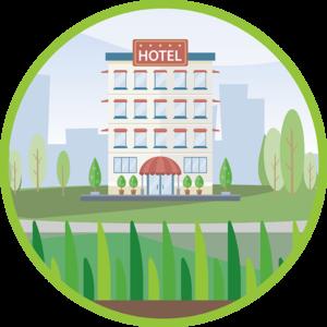 erba sintetica per hotel