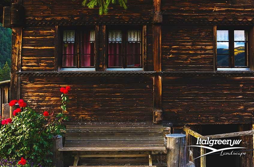 Casa in montagna il giardino