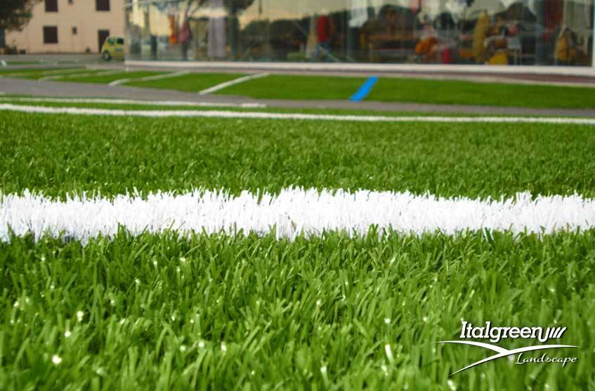 Parcheggio con erba sintetica - Italgreen Landscape