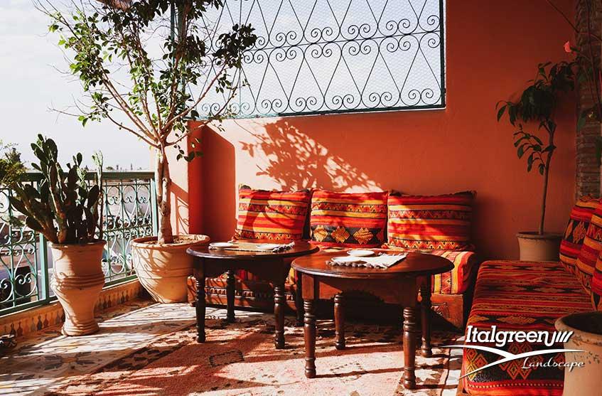 Tendenze arredo giardino 2020 riad marocchino