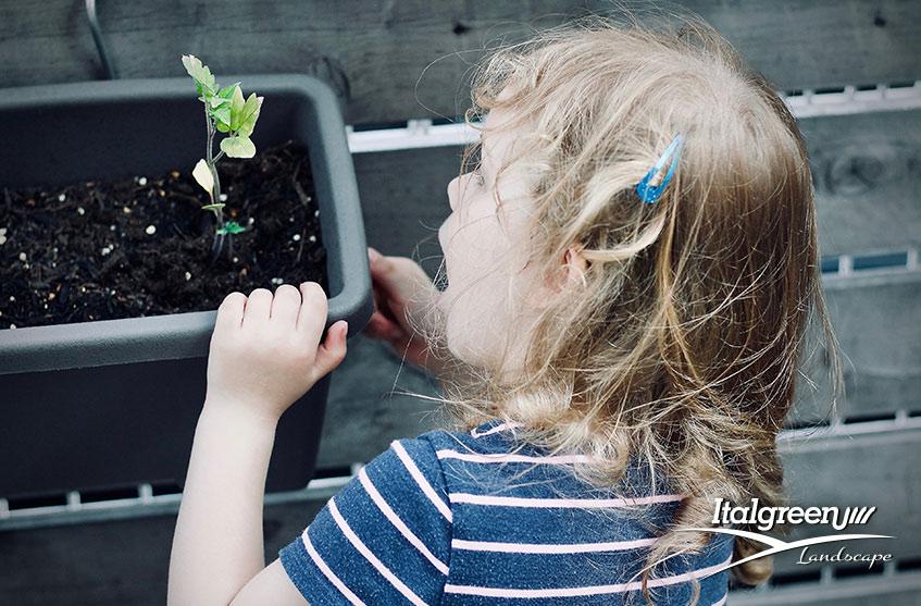 come arredare la terrazza per i bambini Italgreen