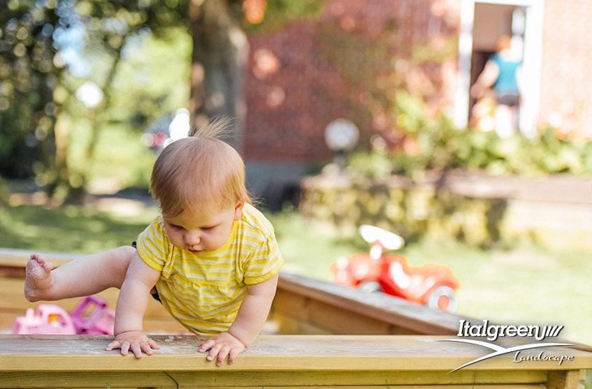 come arredare la terrazza per i bambini